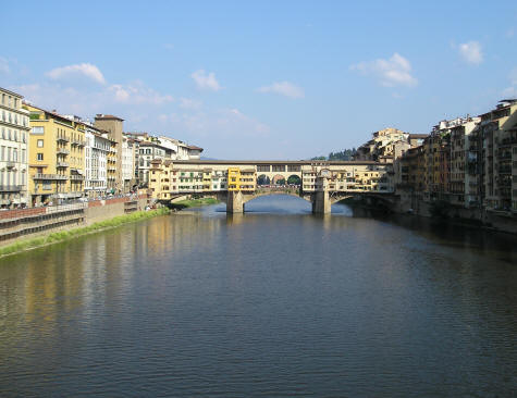 Arno River in Tuscany Italy
