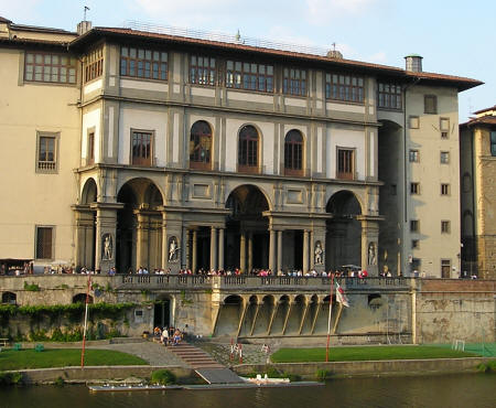 Uffizi Gallery in Florence Tuscany Italy